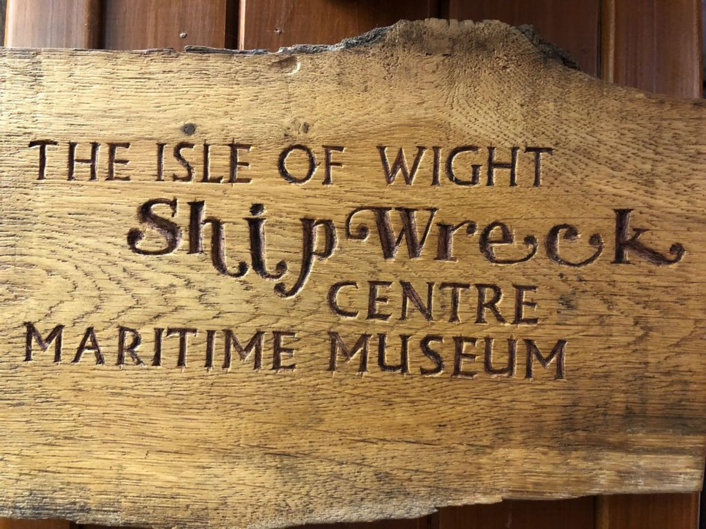 IOW Shipwreck Centre Sign
