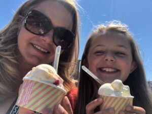 Us eating Ice cream